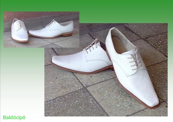 Férfi alkalmi-esküvői cipő öltöny anyagából