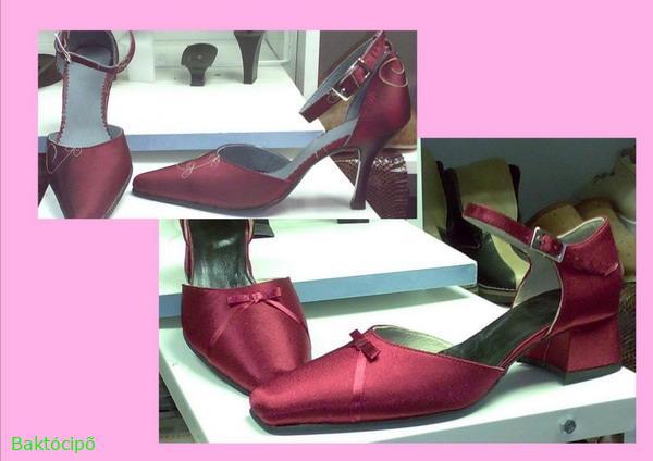92cf8edae2 Női alkalmi-menyecske cipő ruha anyagából - Baktócipő - webáruház, webshop