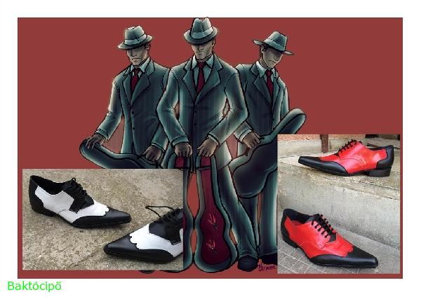 """""""Maffiózó""""férfi fűzős félcipő"""