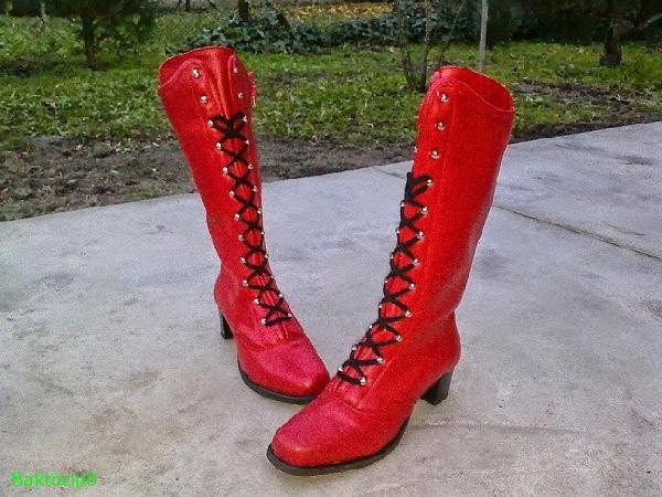 c0d78d69b8 Piros bőr mazsorett csizma,méretek 36-43-ig - Baktócipő - webáruház, webshop