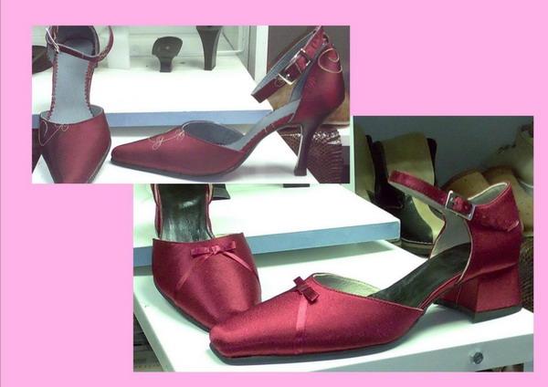 Női alkalmi-menyecske cipő ruha anyagából